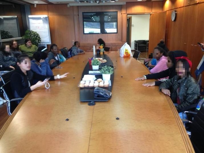 We were also invited to a special meeting in the CEO's Office of Ganey Taarucha