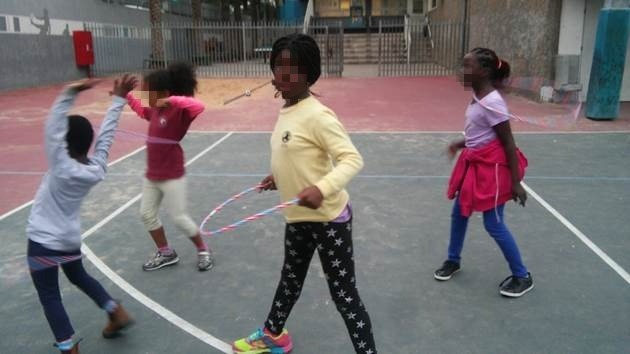 In basketball class, not only we play, but also train for better coordination and fitness
